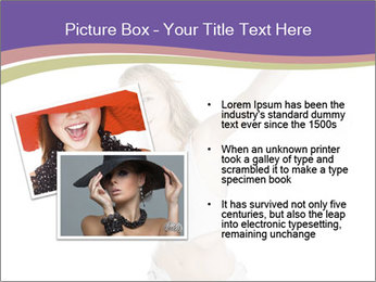 Cute Woman with Soccer Ball PowerPoint Template - Slide 20