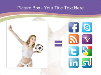 Cute Woman with Soccer Ball PowerPoint Template - Slide 21