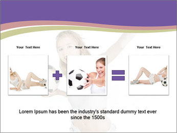 Cute Woman with Soccer Ball PowerPoint Template - Slide 22