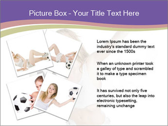 Cute Woman with Soccer Ball PowerPoint Template - Slide 23