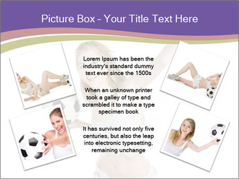 Cute Woman with Soccer Ball PowerPoint Template - Slide 24