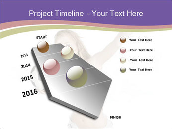 Cute Woman with Soccer Ball PowerPoint Templates - Slide 26