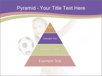 Cute Woman with Soccer Ball PowerPoint Template - Slide 30