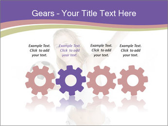 Cute Woman with Soccer Ball PowerPoint Templates - Slide 48