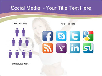 Cute Woman with Soccer Ball PowerPoint Templates - Slide 5