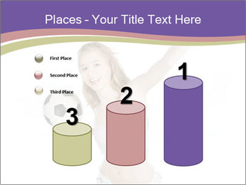 Cute Woman with Soccer Ball PowerPoint Templates - Slide 65