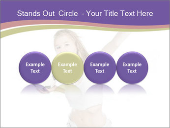 Cute Woman with Soccer Ball PowerPoint Template - Slide 76