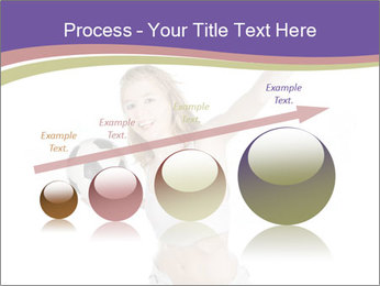 Cute Woman with Soccer Ball PowerPoint Template - Slide 87