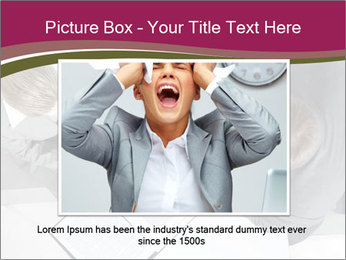 Colleagues and Paperwork PowerPoint Template - Slide 15