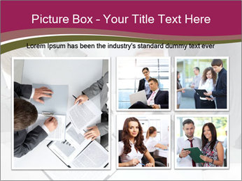 Colleagues and Paperwork PowerPoint Template - Slide 19
