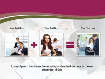 Colleagues and Paperwork PowerPoint Template - Slide 22