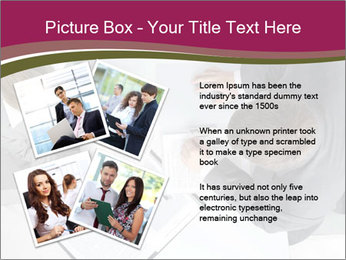 Colleagues and Paperwork PowerPoint Template - Slide 23