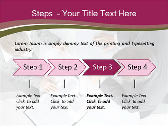 Colleagues and Paperwork PowerPoint Template - Slide 4