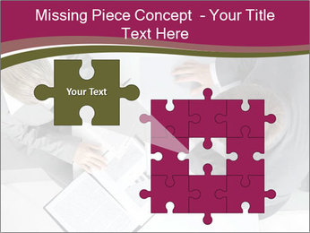 Colleagues and Paperwork PowerPoint Template - Slide 45