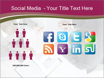 Colleagues and Paperwork PowerPoint Template - Slide 5