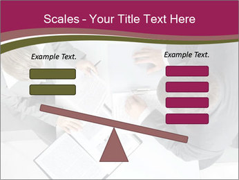 Colleagues and Paperwork PowerPoint Template - Slide 89