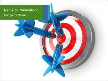 3D Darts PowerPoint Templates - Slide 1