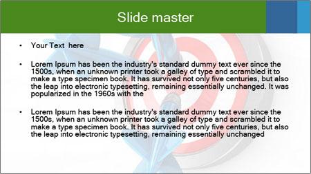 3D Darts PowerPoint Template - Slide 2