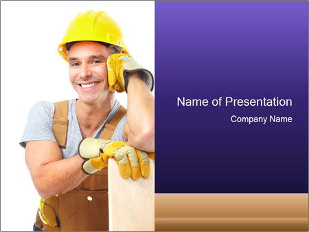 Smiling Builder PowerPoint Template