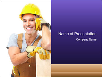 Smiling Builder PowerPoint Template - Slide 1