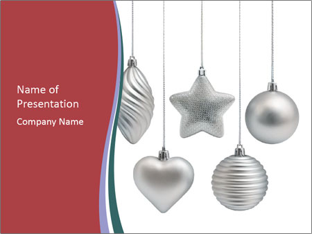 Silver Christmas Toys PowerPoint Templates