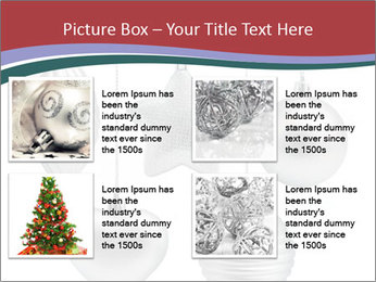 Silver Christmas Toys PowerPoint Templates - Slide 14