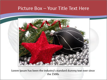 Silver Christmas Toys PowerPoint Templates - Slide 16