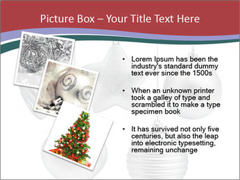 Silver Christmas Toys PowerPoint Templates - Slide 17
