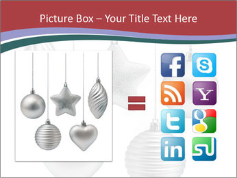 Silver Christmas Toys PowerPoint Templates - Slide 21