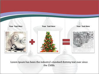 Silver Christmas Toys PowerPoint Templates - Slide 22