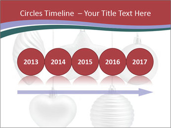 Silver Christmas Toys PowerPoint Templates - Slide 29