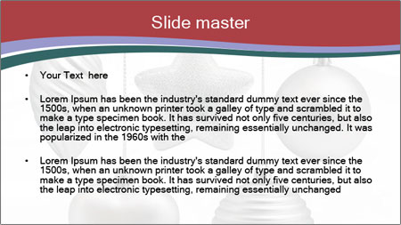 Silver Christmas Toys PowerPoint Template - Slide 2
