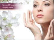 Woman and Spring Blossom PowerPoint Templates