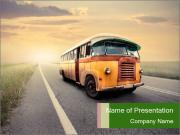 Retro Bus PowerPoint Templates
