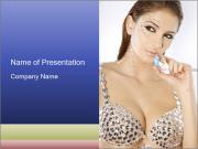 Woman Wearing Bra with Diamonds PowerPoint Templates