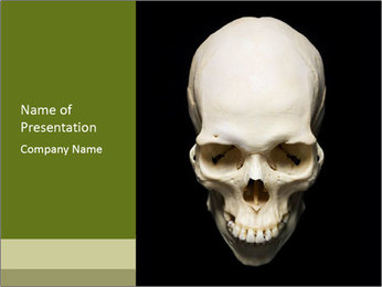 Scary Human Skull PowerPoint Template - Slide 1