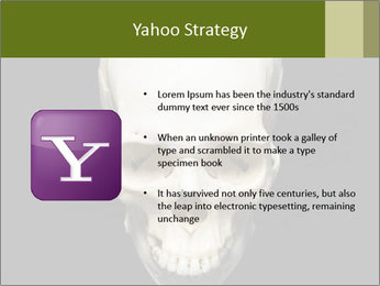 Scary Human Skull PowerPoint Template - Slide 11