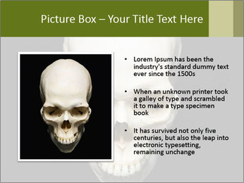 Scary Human Skull PowerPoint Template - Slide 13
