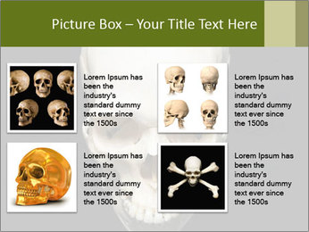 Scary Human Skull PowerPoint Template - Slide 14