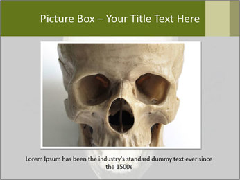 Scary Human Skull PowerPoint Template - Slide 16