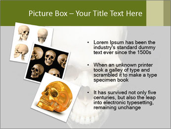Scary Human Skull PowerPoint Template - Slide 17