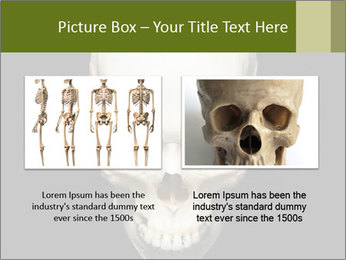 Scary Human Skull PowerPoint Template - Slide 18