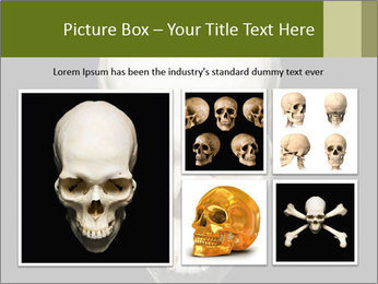 Scary Human Skull PowerPoint Template - Slide 19