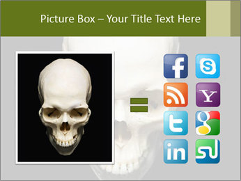 Scary Human Skull PowerPoint Template - Slide 21