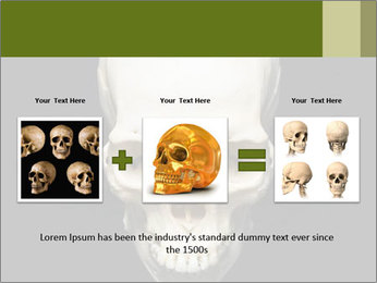 Scary Human Skull PowerPoint Template - Slide 22