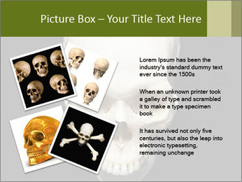 Scary Human Skull PowerPoint Template - Slide 23