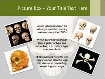 Scary Human Skull PowerPoint Template - Slide 24