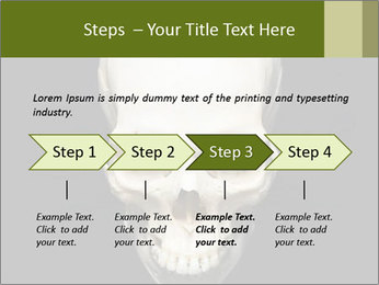 Scary Human Skull PowerPoint Template - Slide 4