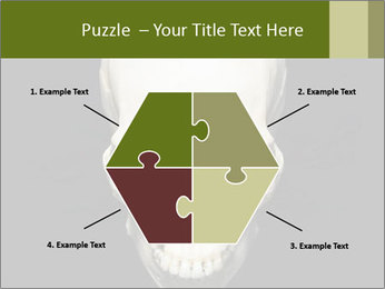 Scary Human Skull PowerPoint Template - Slide 40