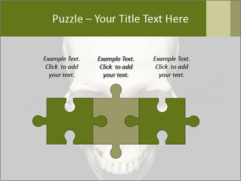 Scary Human Skull PowerPoint Template - Slide 42